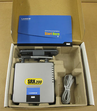 Linksys Wireless-G ADSL Gateway Wireless Router Mod WAG54GX2 With SRX200