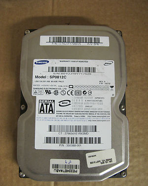 Samsung SpinPoint  80 GB,Internal,7200 RPM (SP0812C) Hard Drive SATA