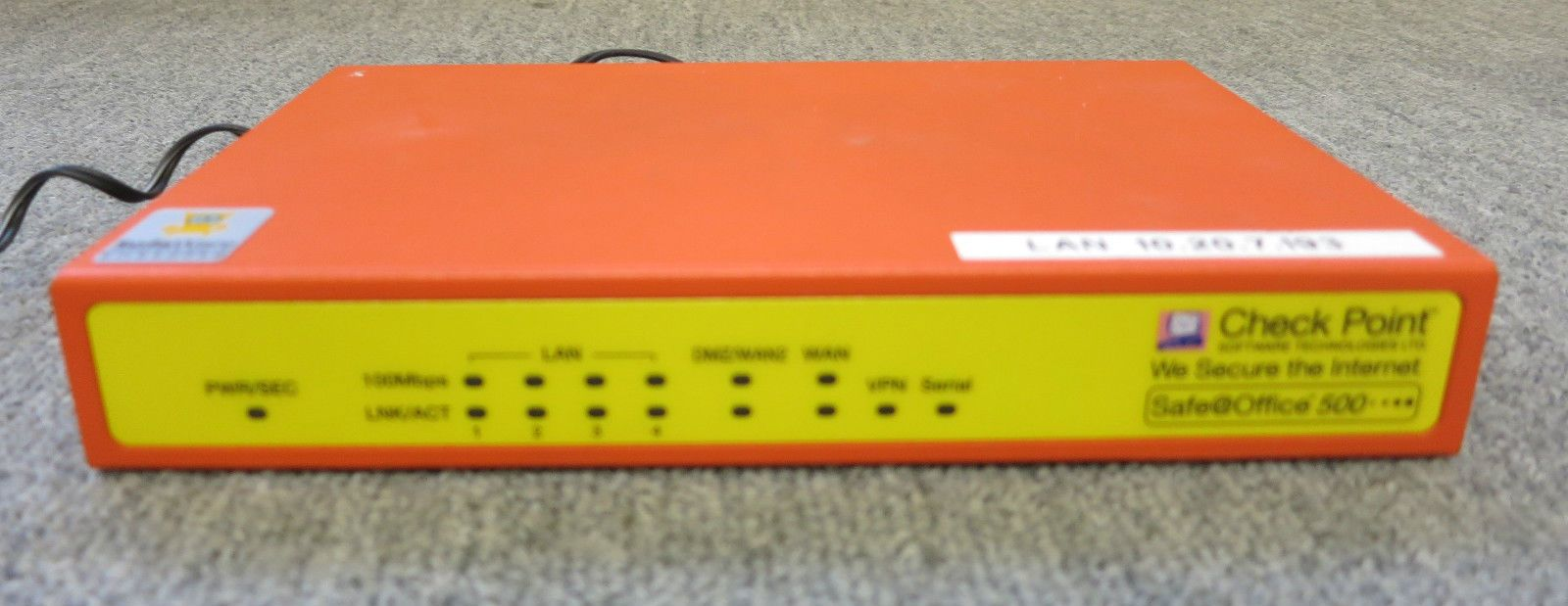 Check Point SBX-166LHGE-5 500 Firewall And VPN Unit Internet Security