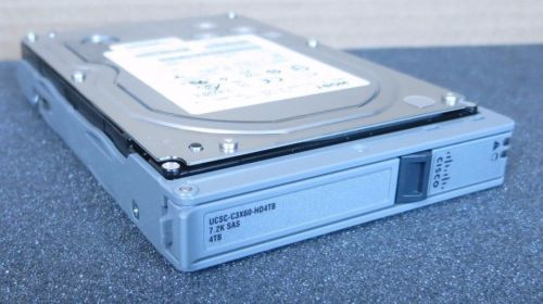"Cisco 4TB UCSC-C3X60-HD4TB SAS 7.2K Enterprise Hard Drive HDD 3.5"" w/C3X60 Caddy"