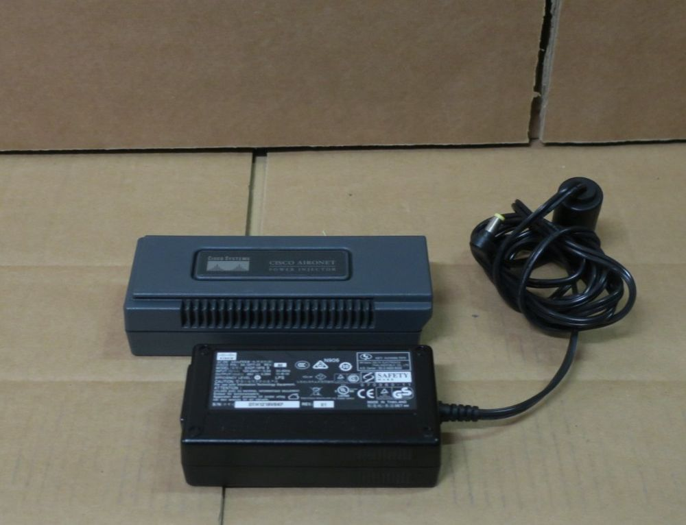 Cisco Systems Aironet Power Injector AIR-PWRINJ3 POE with 48V Power Supply