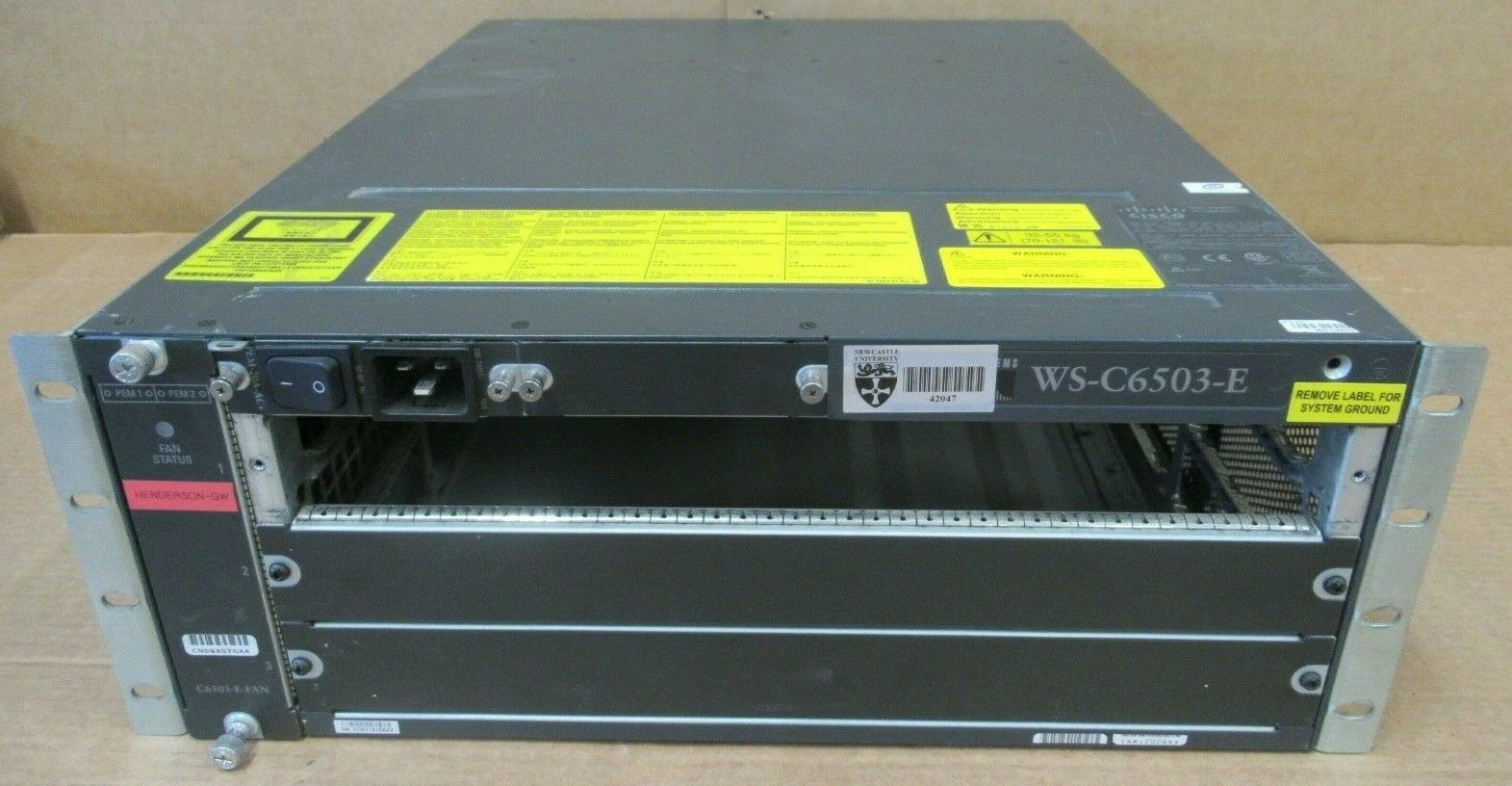 Cisco Catalyst 6500 Series WS-C6503-E 3-Slot Chassis + PWR-1400-AC
