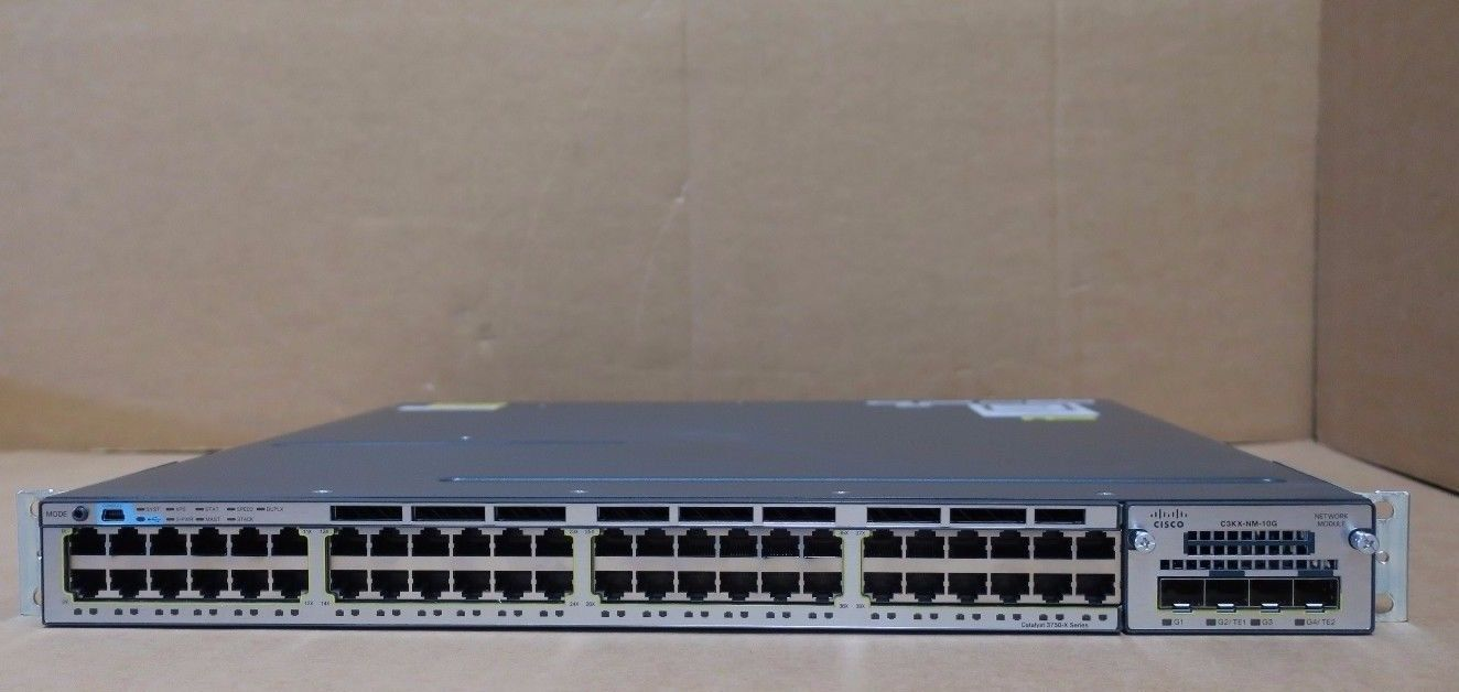 Cisco Catalyst Ws C3750x 48t L 3750 X 48 Port Gigabit Switch C3kx Nm 3560g And Do Routing Lan Switching 10g 2ps