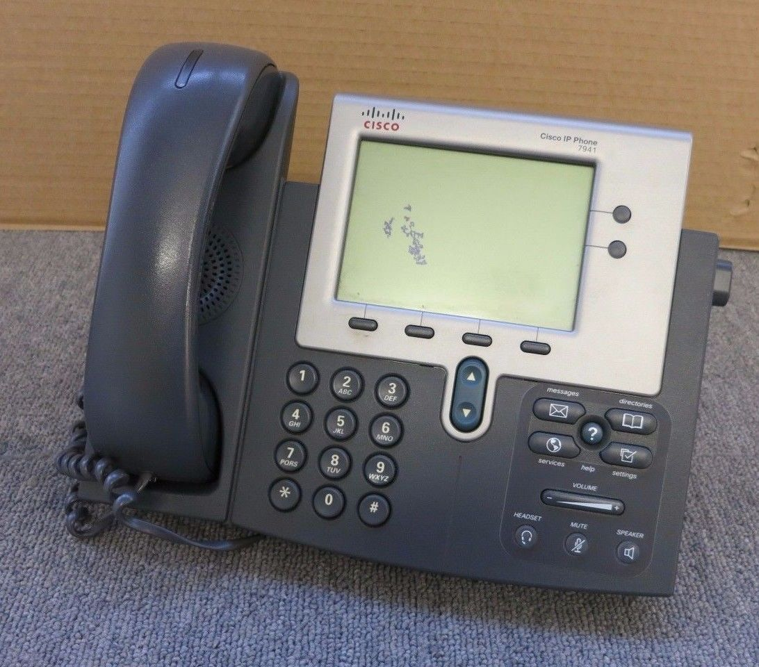 Cisco CP-7941G 7941G 7941 VoIP IP Business Desktop Display Telephone Phone