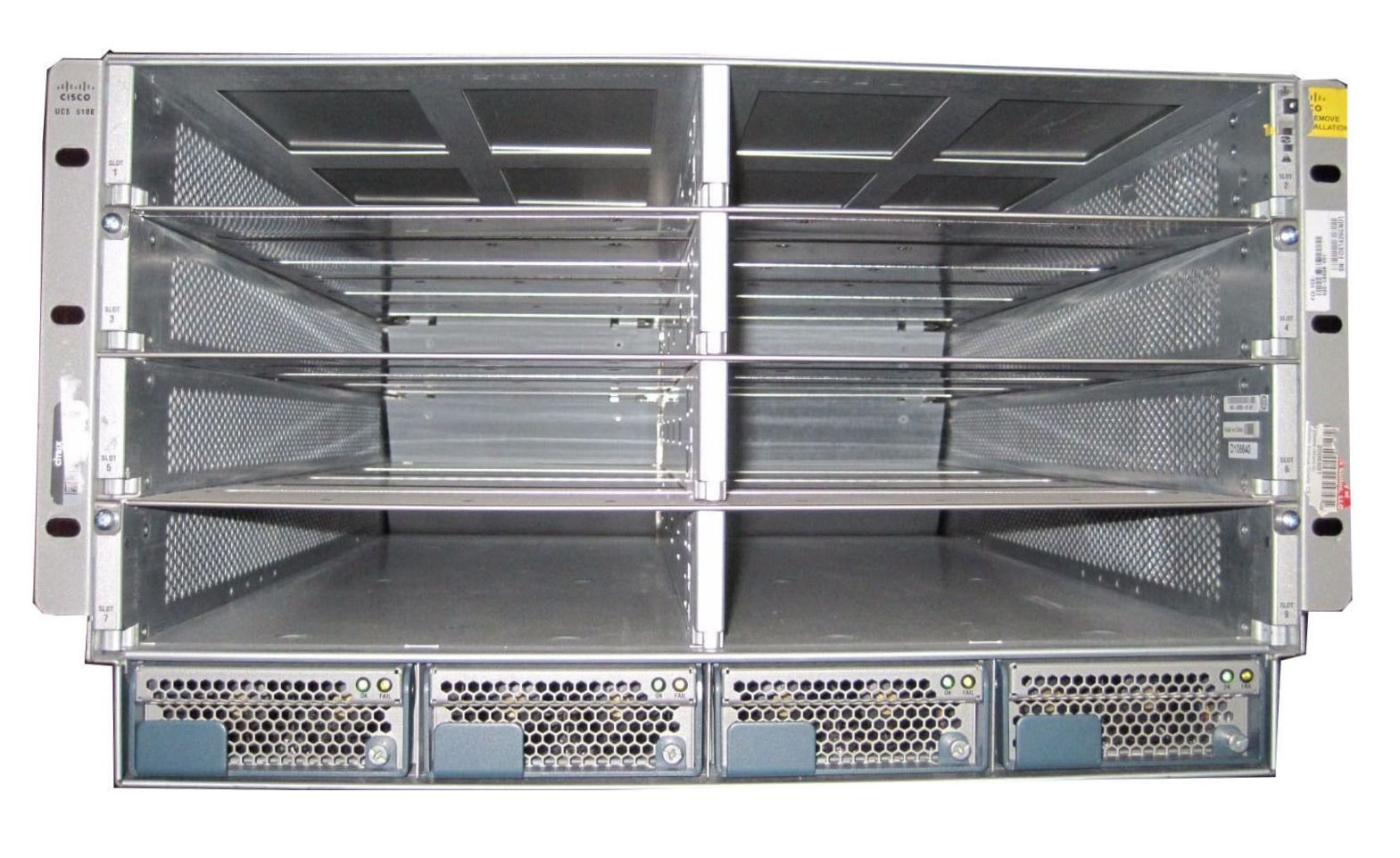 Cisco N20-C6508 UCS 5108 Blade Server Chassis w/4xPSU/8xFAN/2 x 2208XP