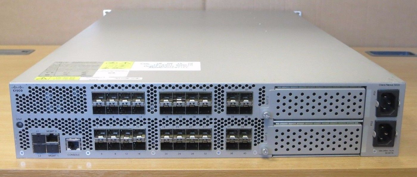 Cisco Nexus 5020 N5k C5020p Bf 40 Port 10gb Gigabit