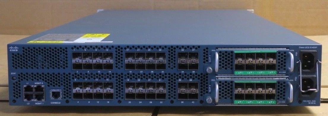 Cisco UCS 6140XP N10-S6200 40-Port Fabric Interconnect Switch and 2x  N10-E0060