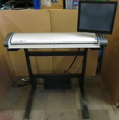 "Contex SD3600 36"" Colour 1200 dpi Wide Format Scanner with stand photos plans"