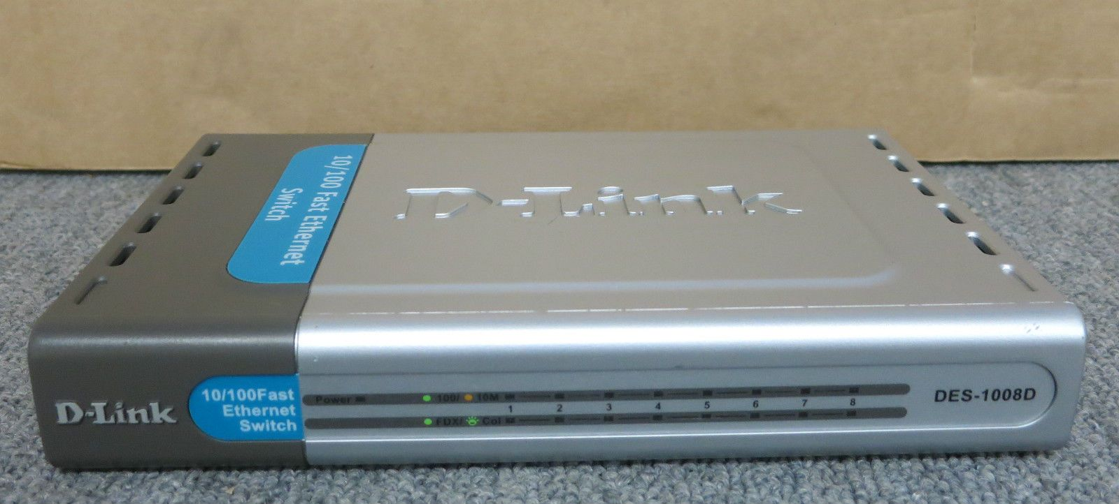 D Link DES 1008D 8 Port 10 100 Fast Ethernet Switch Without AC Adapter