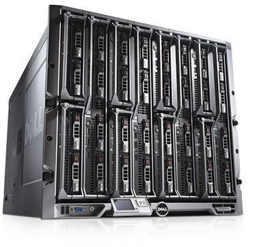 Dell PowerEdge M1000E Enclosure with 256GB ram 8 x M600 3.33GHz 4 Core Servers
