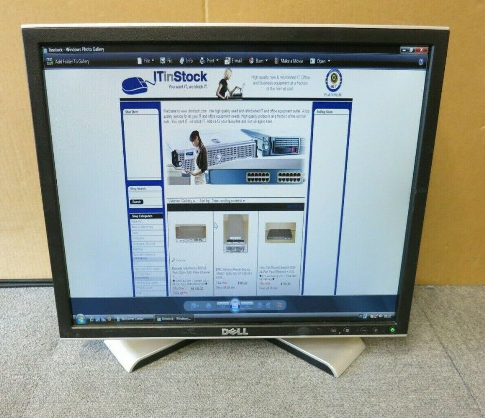 "Great Condition ! Dell 1908fpt 19/"" LCD Monitor w//VGA Cable Power Cord"