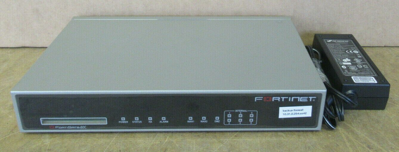 Fortinet FortiGate 80C FG-80C Firewall Security VPN Appliance P05403-03-05