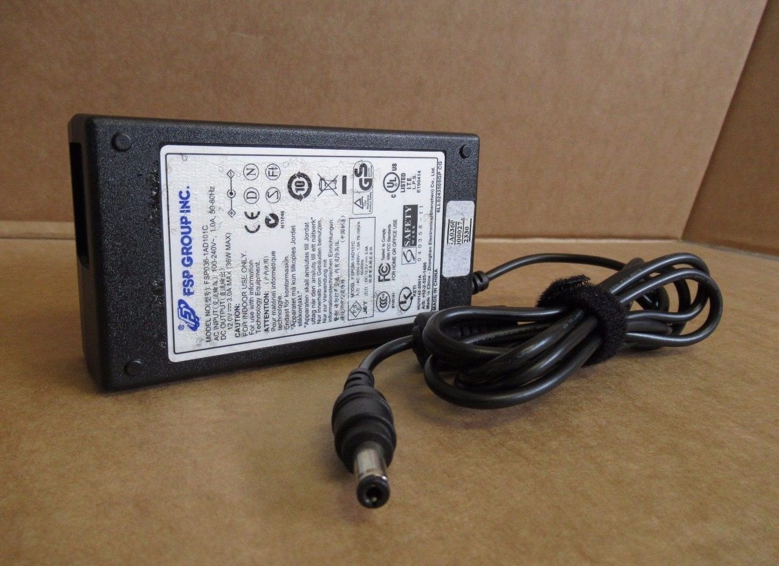 Fsp Group Fsp036 1ad101c Tft Lcd Dvd Hdd Ac Power Adapter Charger Products Accessories 3 Pin Plug Wiring Te 36w 12v 3a