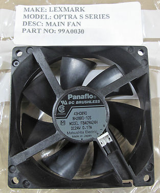 Genuine Lexmark Optra S-Series Main Fan, Printer Supplies P/n 99A0030