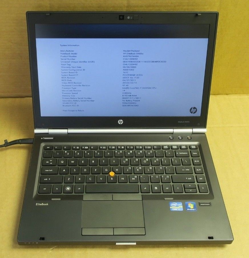 HP ELITEBOOK 8460W DRIVERS DOWNLOAD