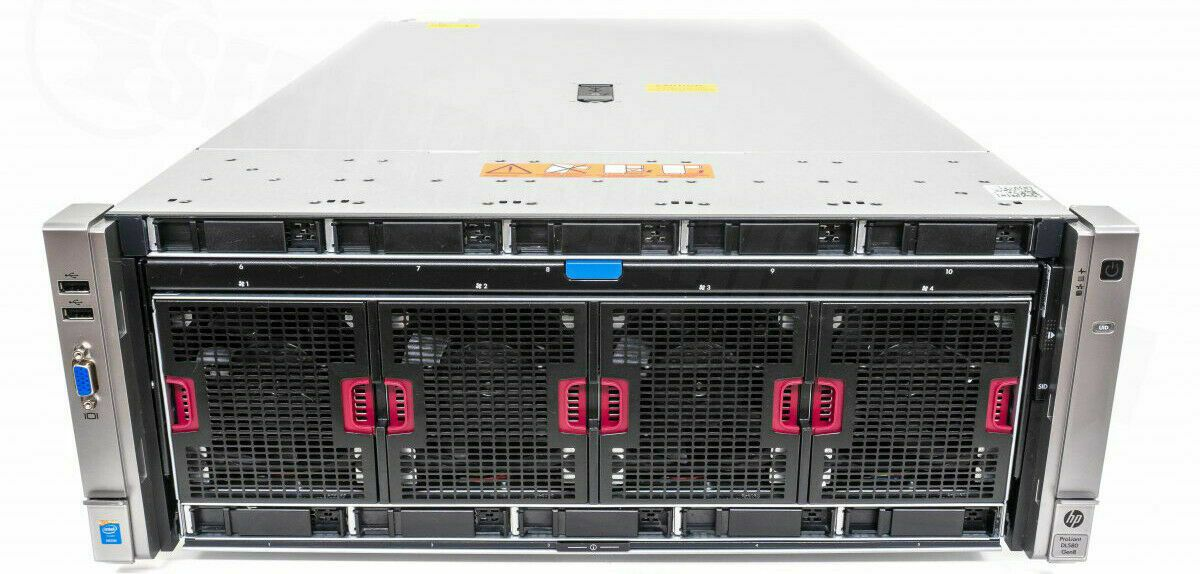 HP ProLiant DL580 Gen8 CTO 4x CPU Socket 96x DDR3 DIMM Slot 10-Bay 4U Server