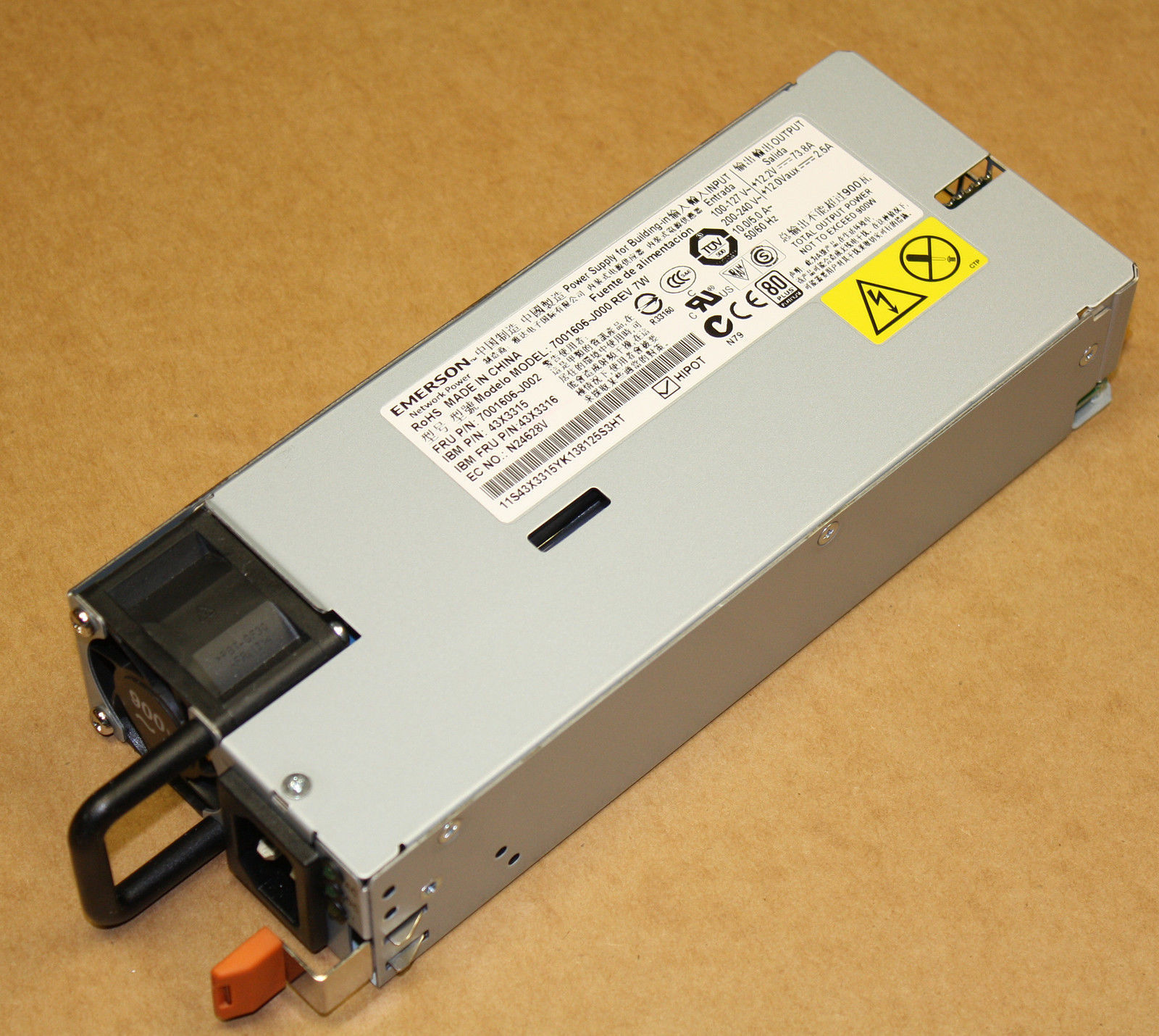 IBM 43X3316 900W High Efficiency H E Hot Swap Power Supply PSU For X3650 M4