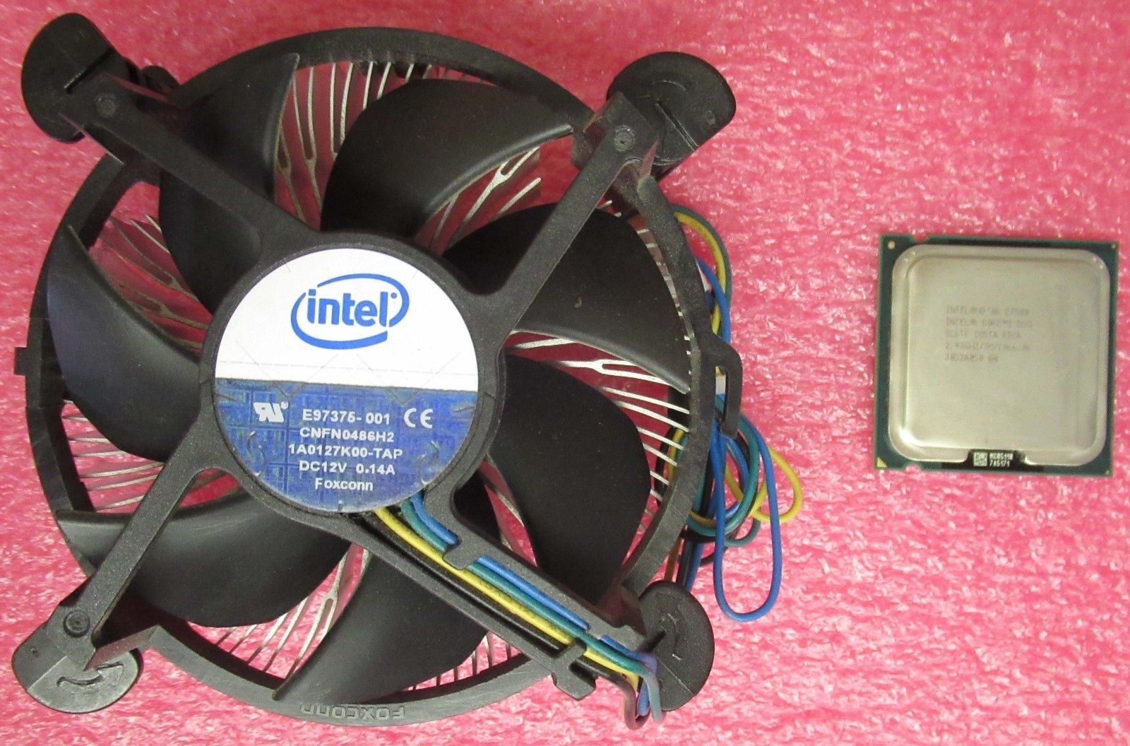 Intel E7500 Core 2 Duo 293ghz 3mb Cache 1066 Mhz Fsb Slgte Prosessor Heatsink Fan