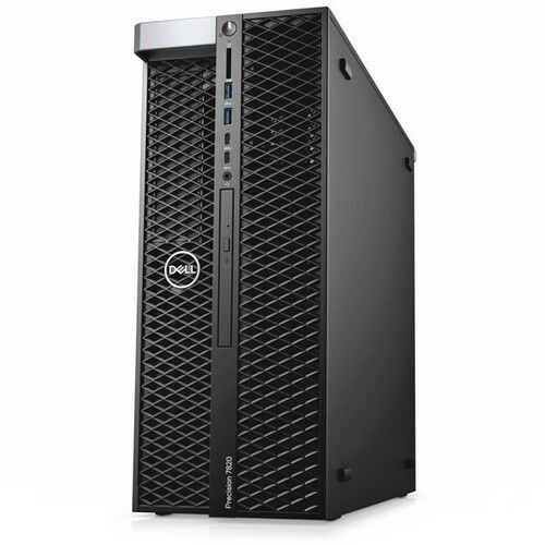 New Dell Precision Tower T7820 2 Gold 6136 64GB 512GB SSD 2x 2TB HDD Workstation