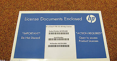 NEW HP c-Class 8 TRL ICE 60-Day TRIAL License - 461394-004