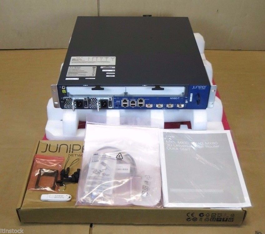 New Juniper MX80-T Modular Internet Router 4 x 10G XFP 10GE + Timing Support
