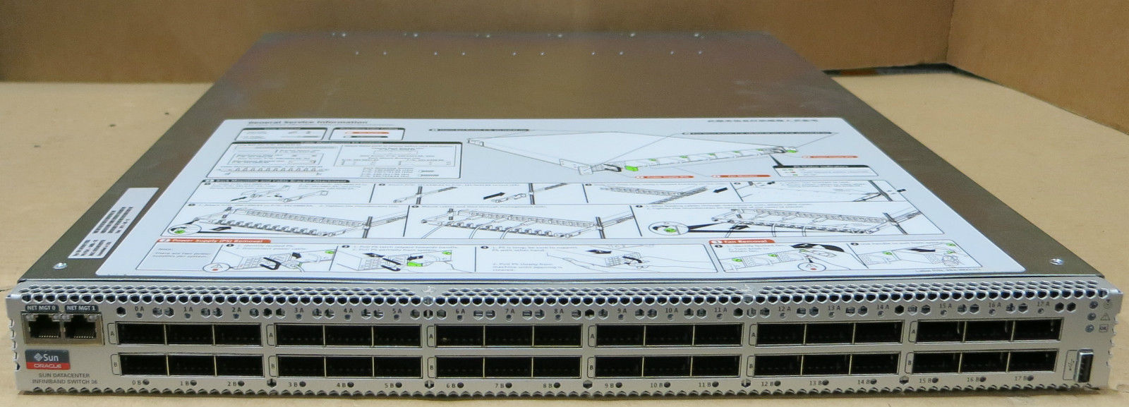 New Sun Oracle 541-3495 Datacenter Infiniband IB QDR 36 1U 36 Port Server Switch