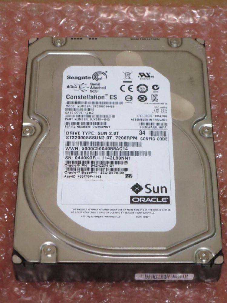 "Seagate ST32000444SS 2Tb 3.5/""  SAS 9jx248-003 constellation ES server hard drive"